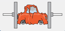Unfall-Auto-verschrotten
